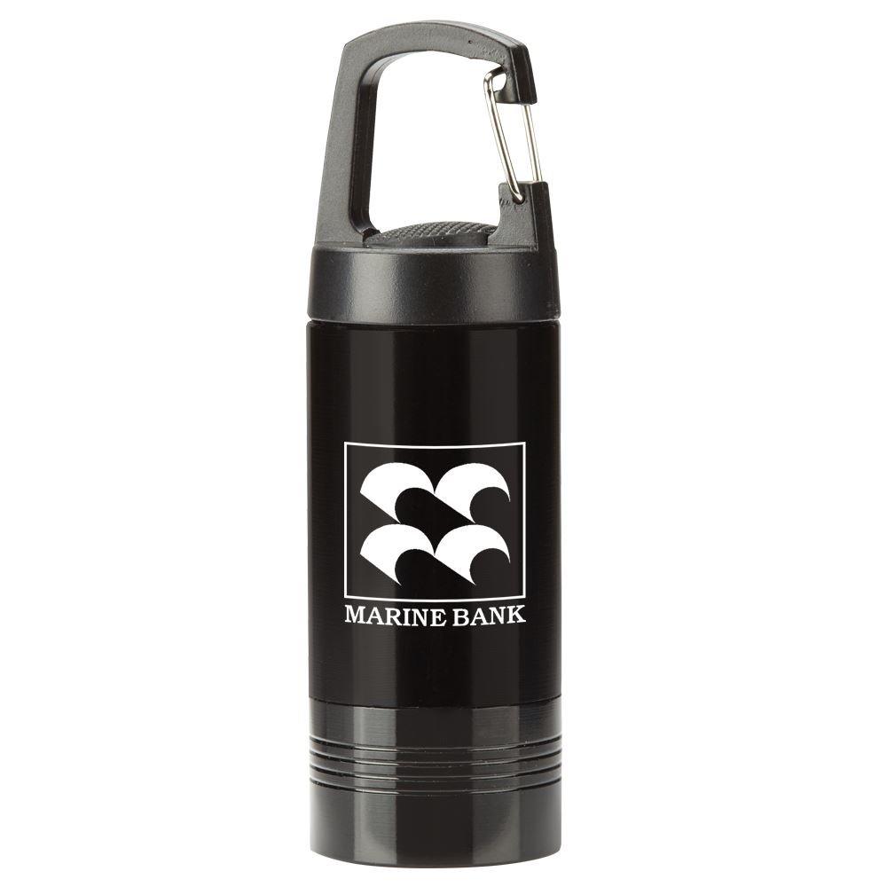 Black Ridgewood LED Carabiner Flashlight - Personalization Available
