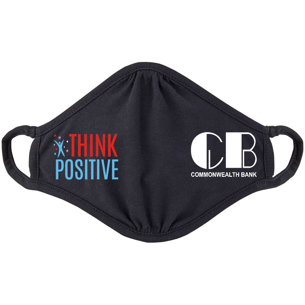 Think Positive 2-Ply 100% Cotton Mask - Personalization Available
