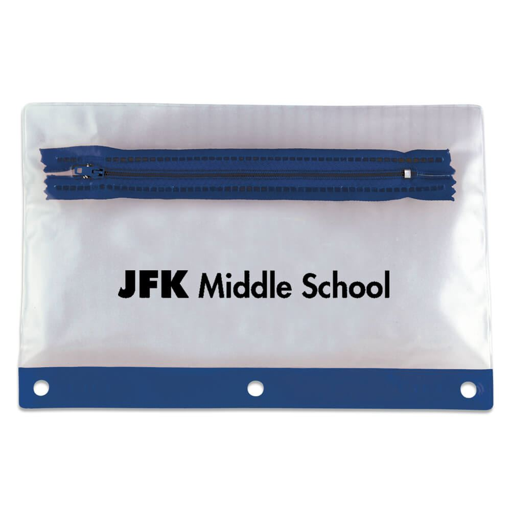 Pencil Pouch/Mask Holder (Blue) - Personalization Available