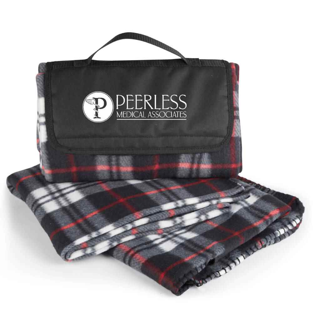 Plaid Fleece Blanket - Personalization Available