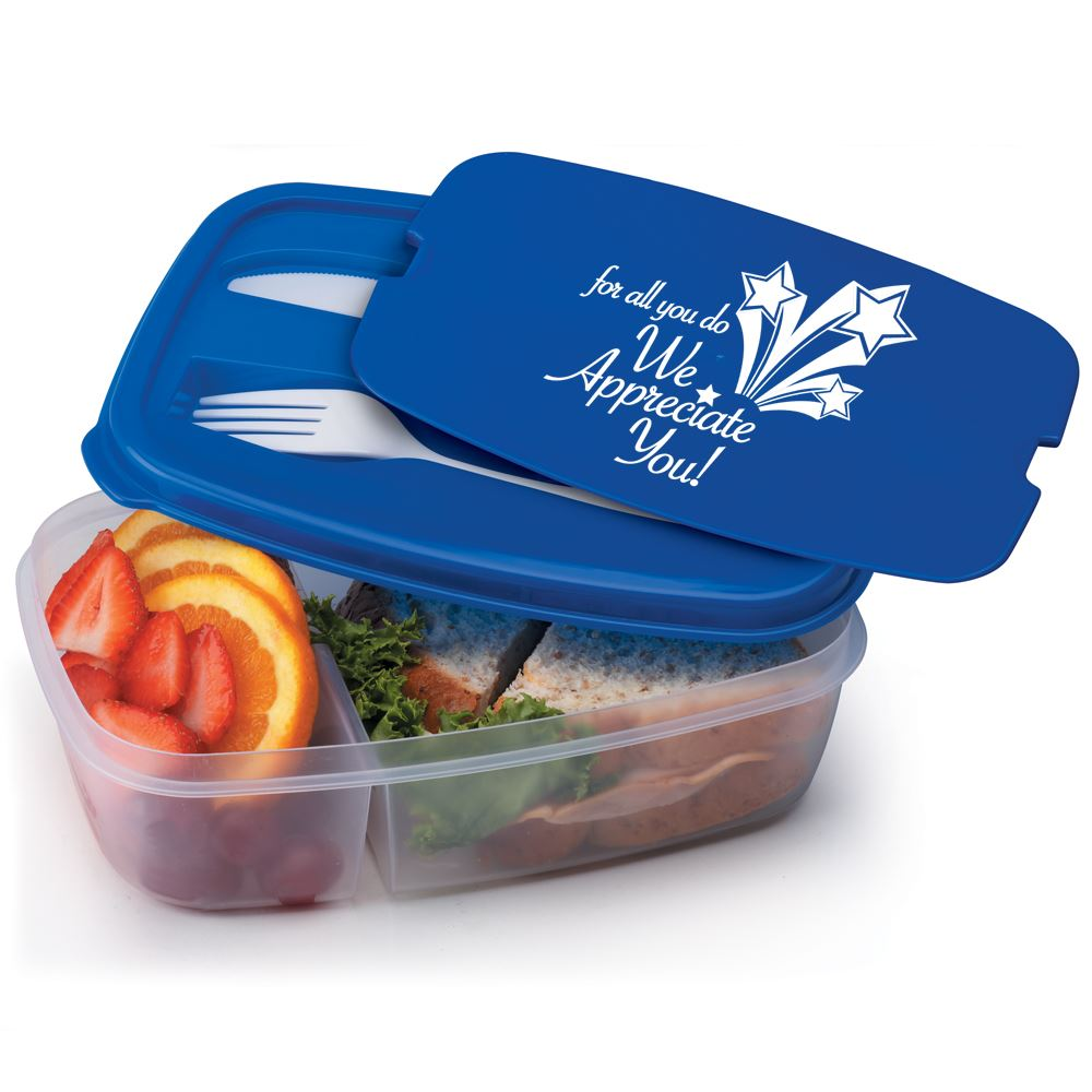 For All You Do We Appreciate You 2-Section Food Container