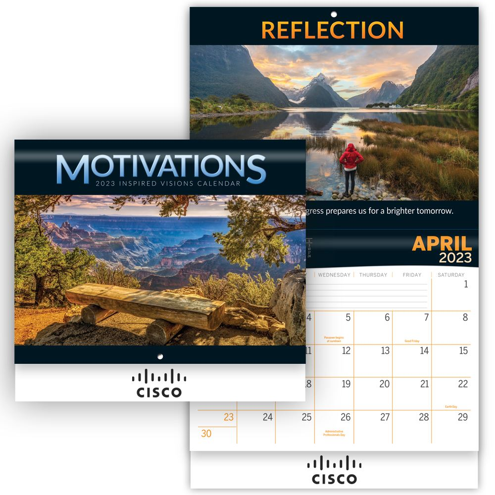 Motivations Inspired Visions 2022 Wall Calendar - Personalization Available