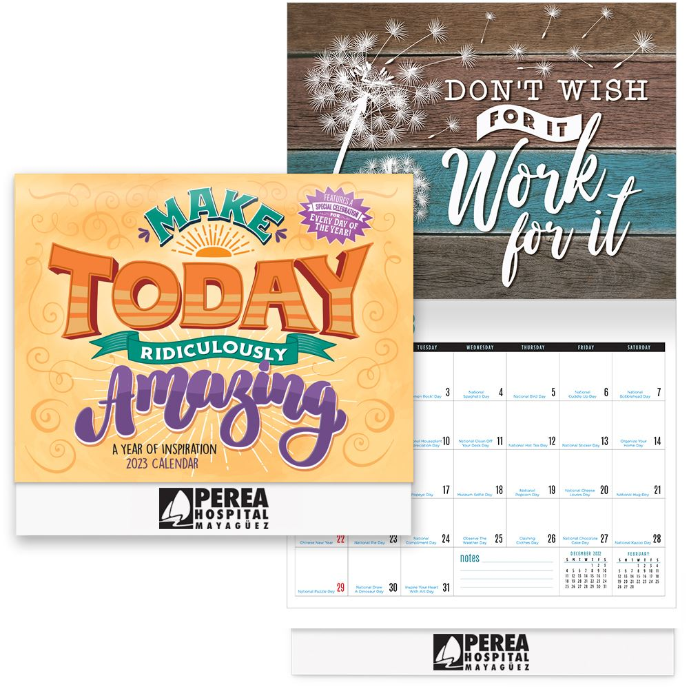 2022 Make Today Ridiculously Amazing: A Year of Inspiration Wall Calendar - Personalization Available
