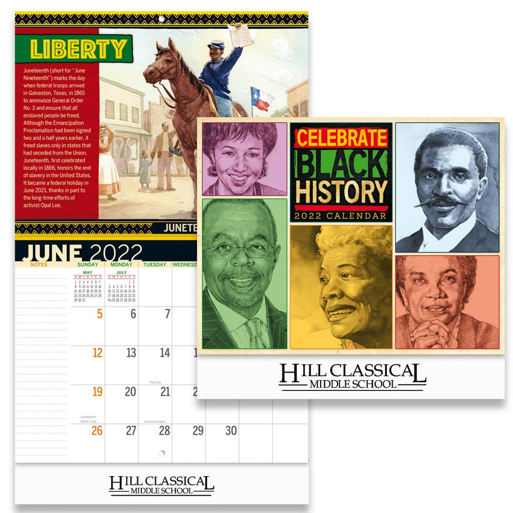 Celebrate Black History 2020 Wall Calendar - Personalization Available