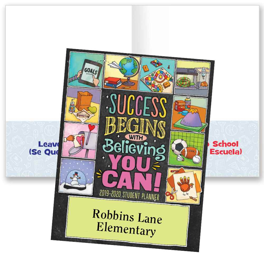 Success Begins With Believing You Can! School-To-Home Student Folder - Personalization Available
