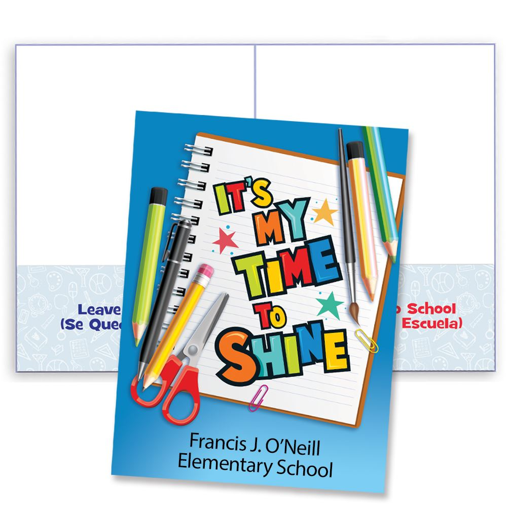 It's Time To Shine Student Folder - Personalization Available