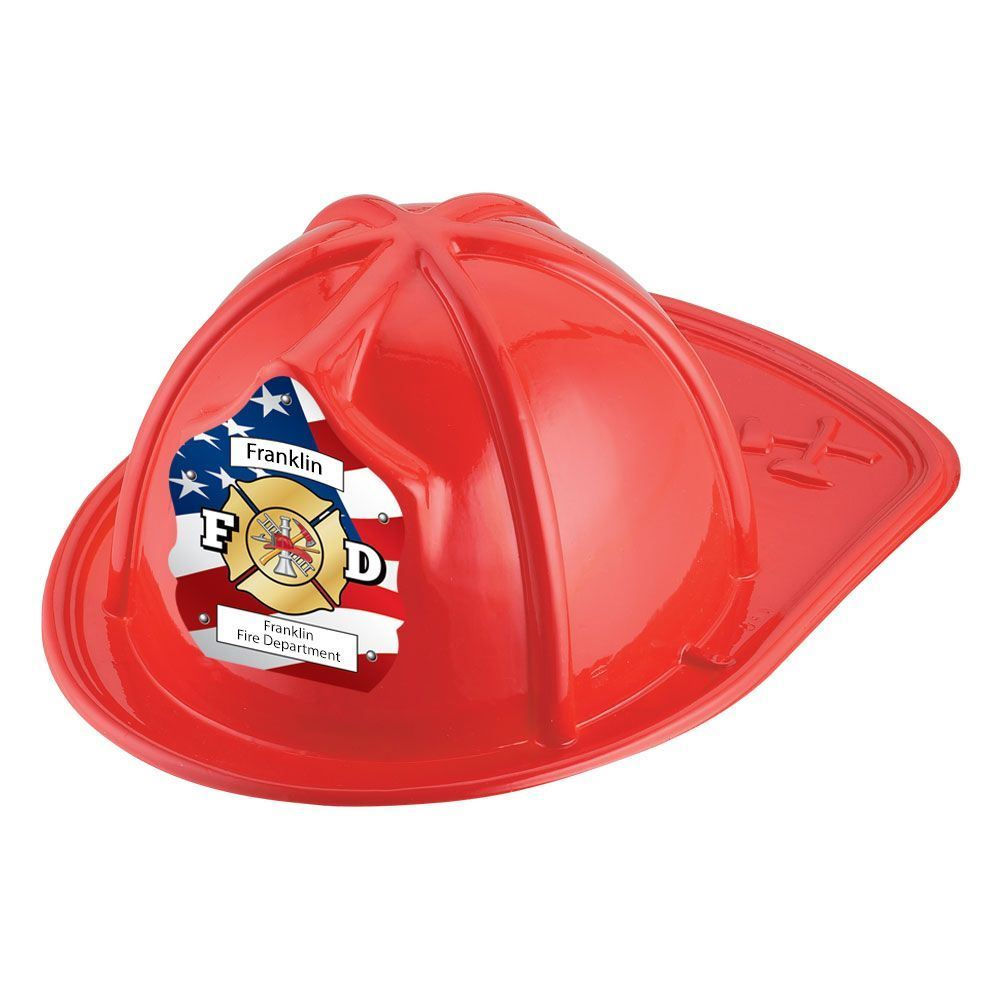F D Red Firefighter Hats With Personalization