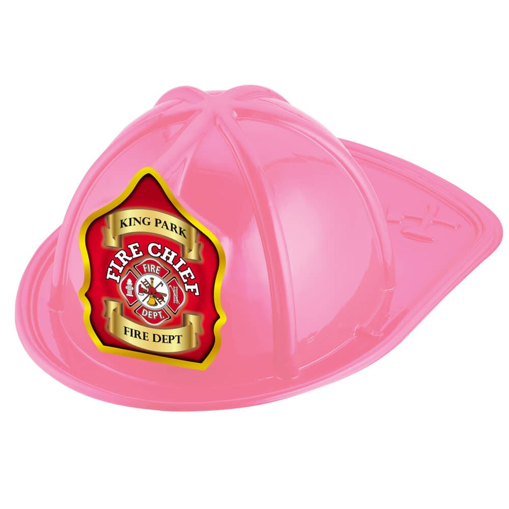 Fire Chief Fire Dept. Pink Firefighter Hat With Personalization