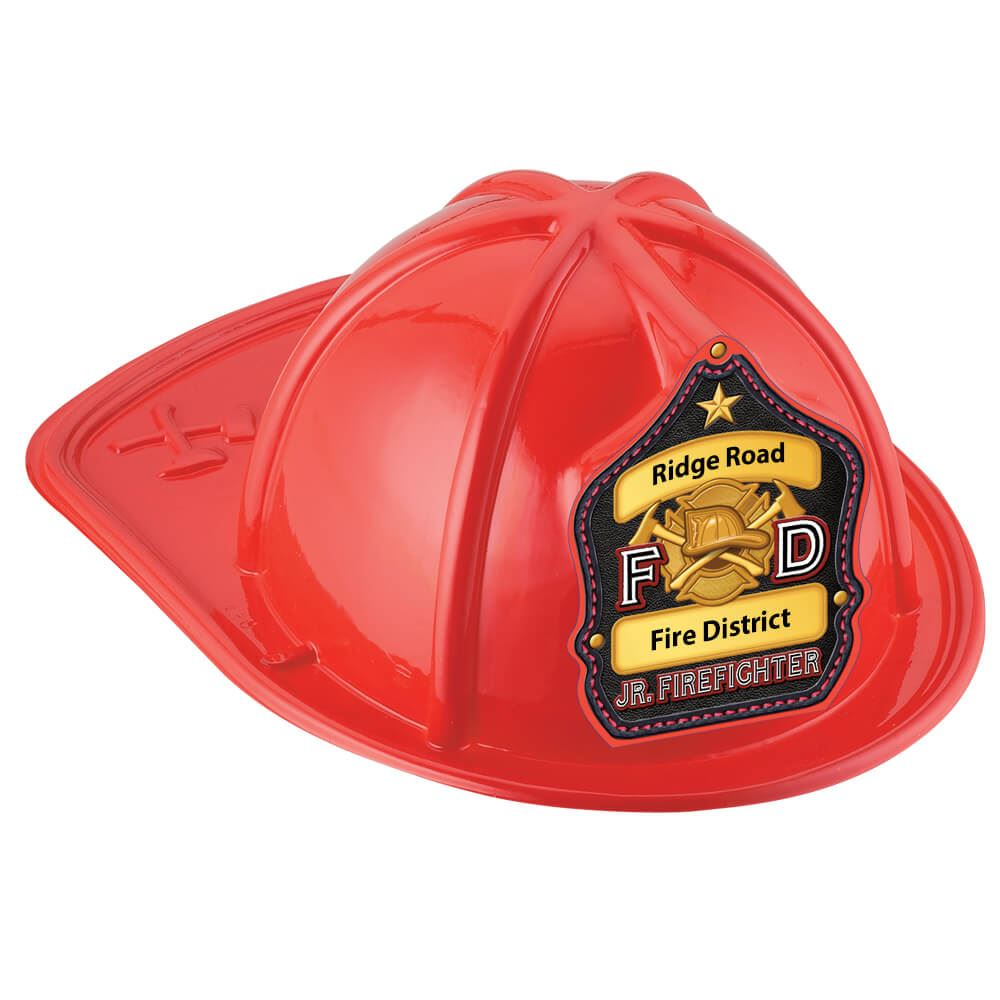 F D Jr. Firefighter Hat (Red) With Personalization