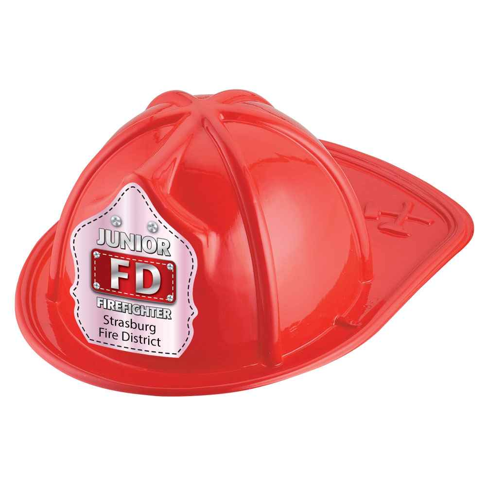 Junior FD Firefighter Hat (Red) With Personalization