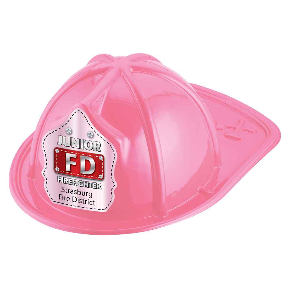 Junior FD Firefighter Hat (Pink) With Personalization