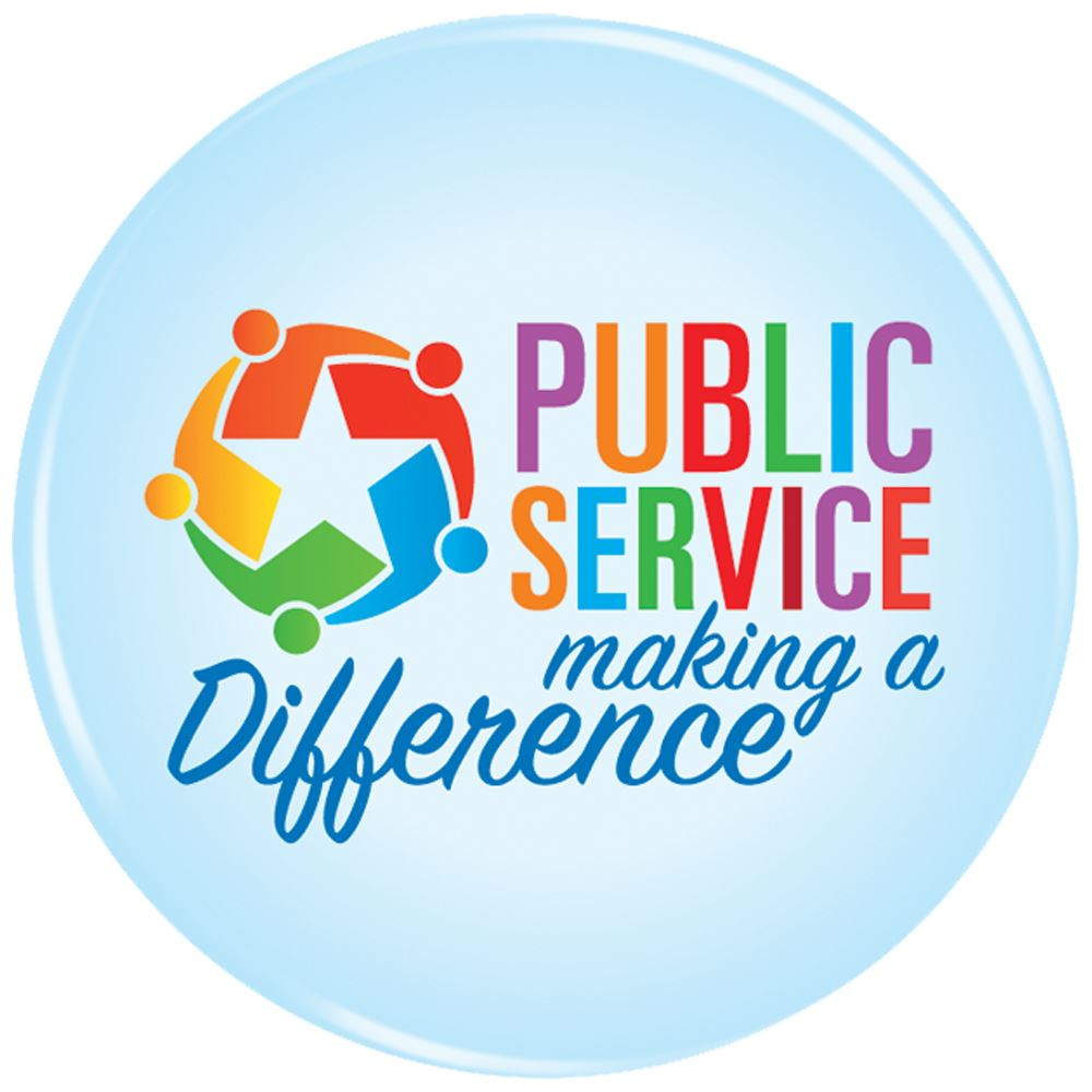 Public Service Making A Difference Button