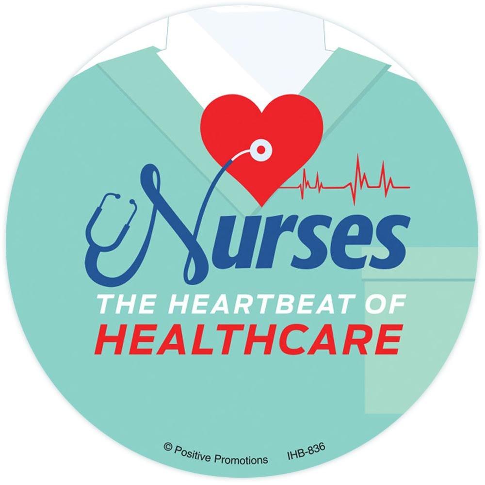 Nurses: The Heartbeat Of Healthcare Button