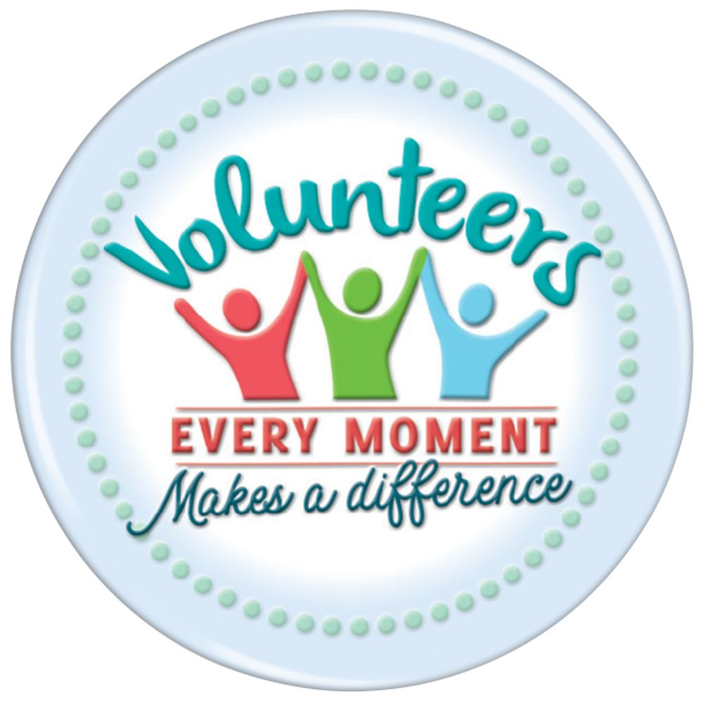 Volunteers: Every Moment Makes A Difference Buttons