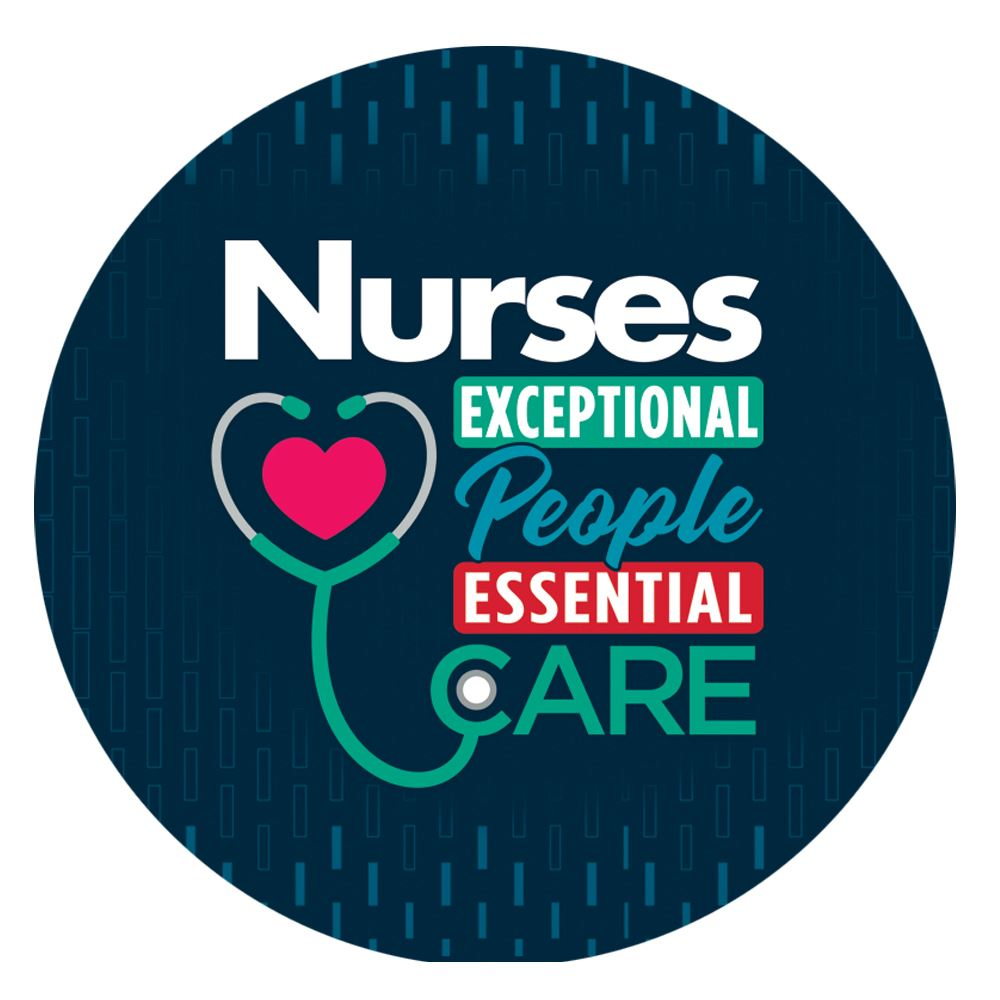 Nurses: Exceptional People, Essential Care Button