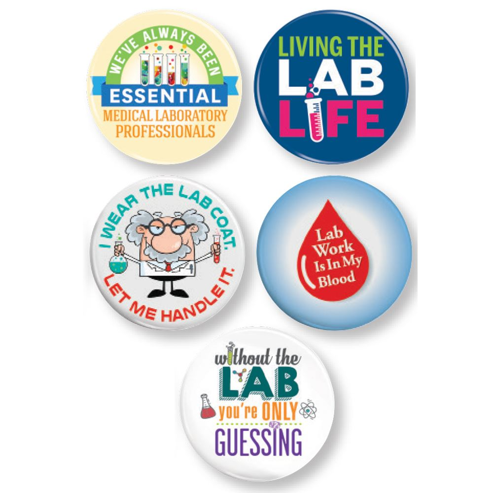 Medical Lab Professionals:Mini Button Assortment Pack