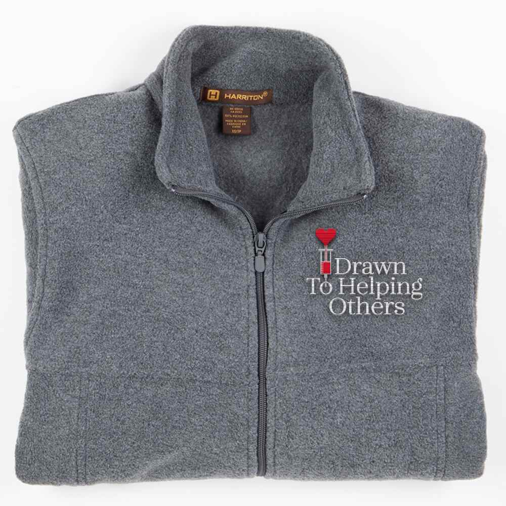 Drawn To Helping Others Harriton® Fleece Men's Jacket