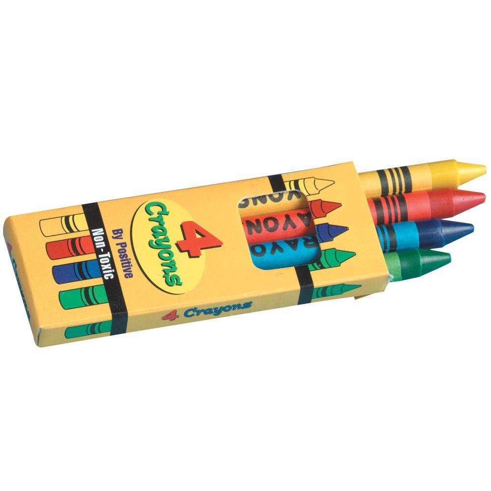 4 Pack Of Non-Toxic Crayons