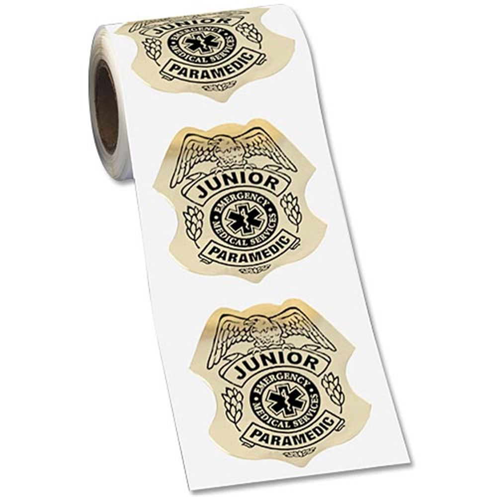 Junior Paramedic Gold Foil Stickers-On-A-Roll