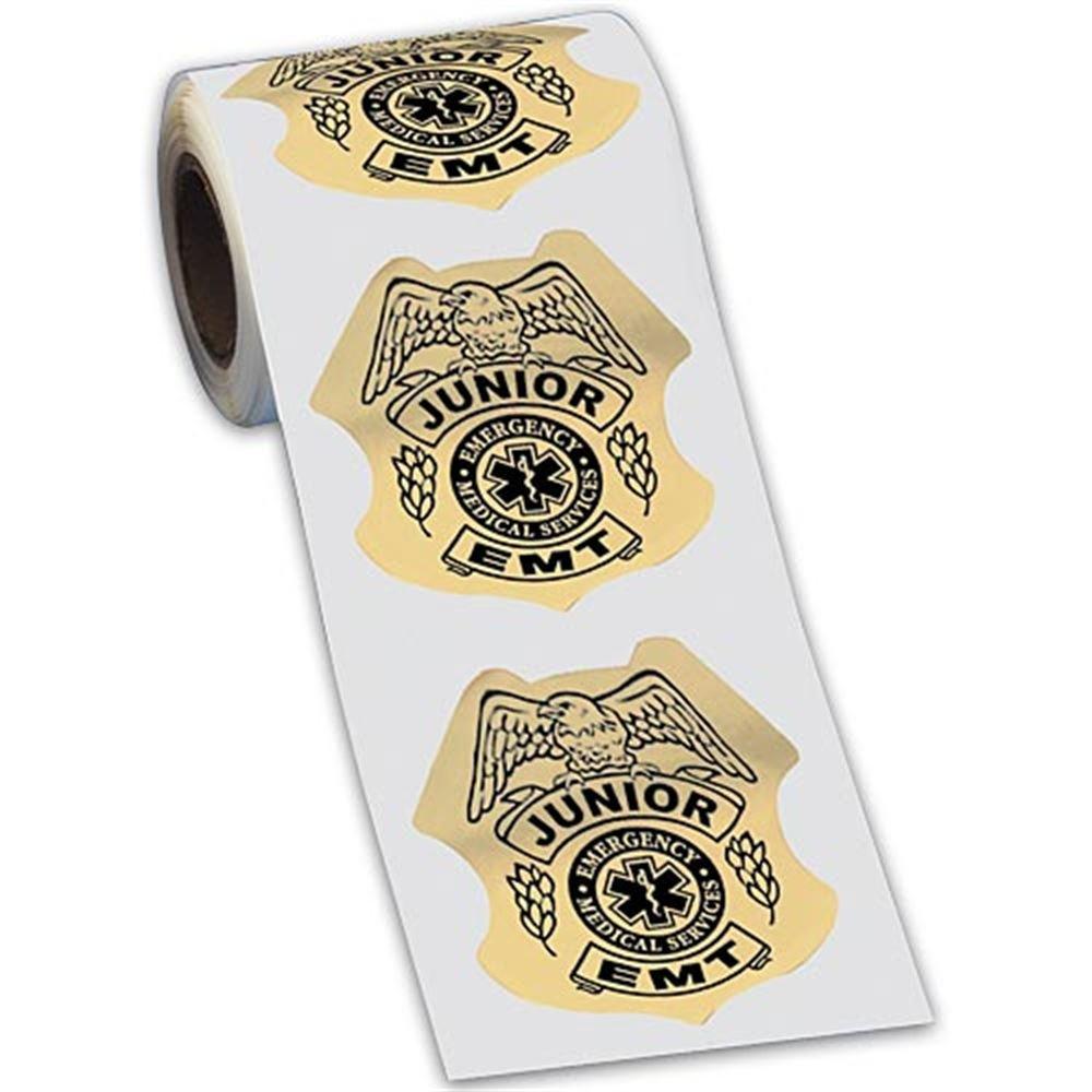 Junior EMT Gold-Foil Stickers-On-A-Roll