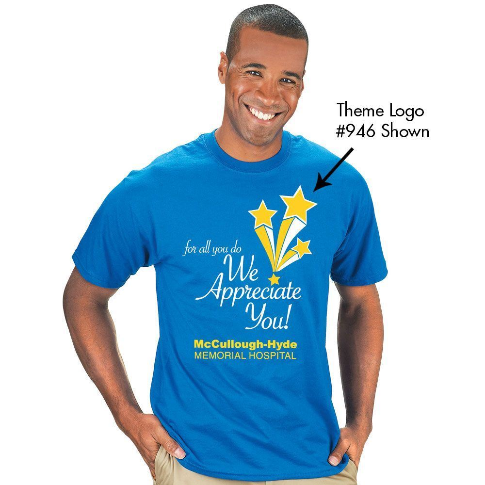 100% Cotton Short Sleeve T-Shirt With Recognition Logos & Personalization