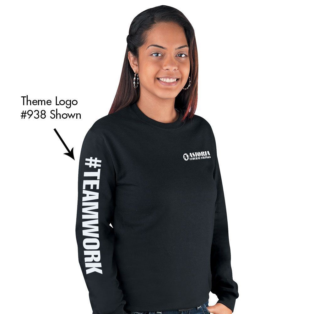 Long Sleeve T-Shirt With Recognition Logos - Personalization Available