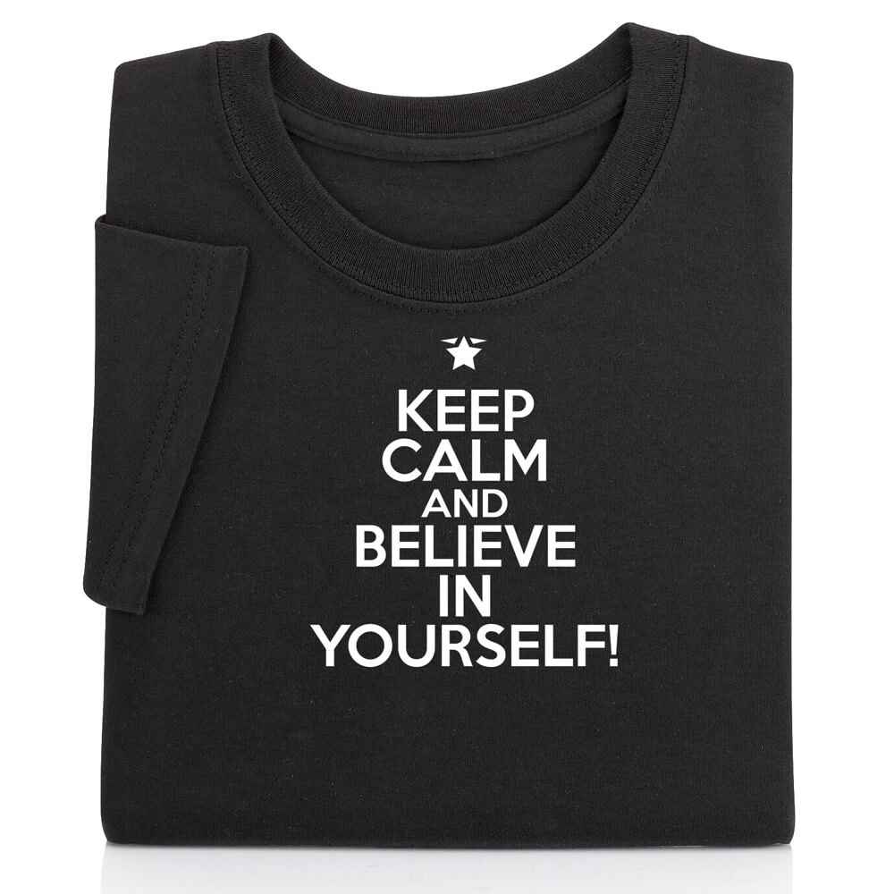 Keep Calm And Believe In Yourself! Youth T-Shirt - Personalization Available