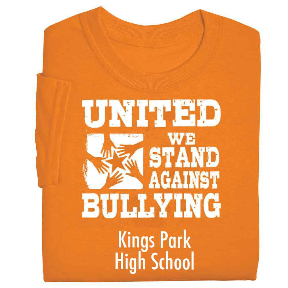 United We Stand Against Bullying Youth Positive T-Shirt - Personalized
