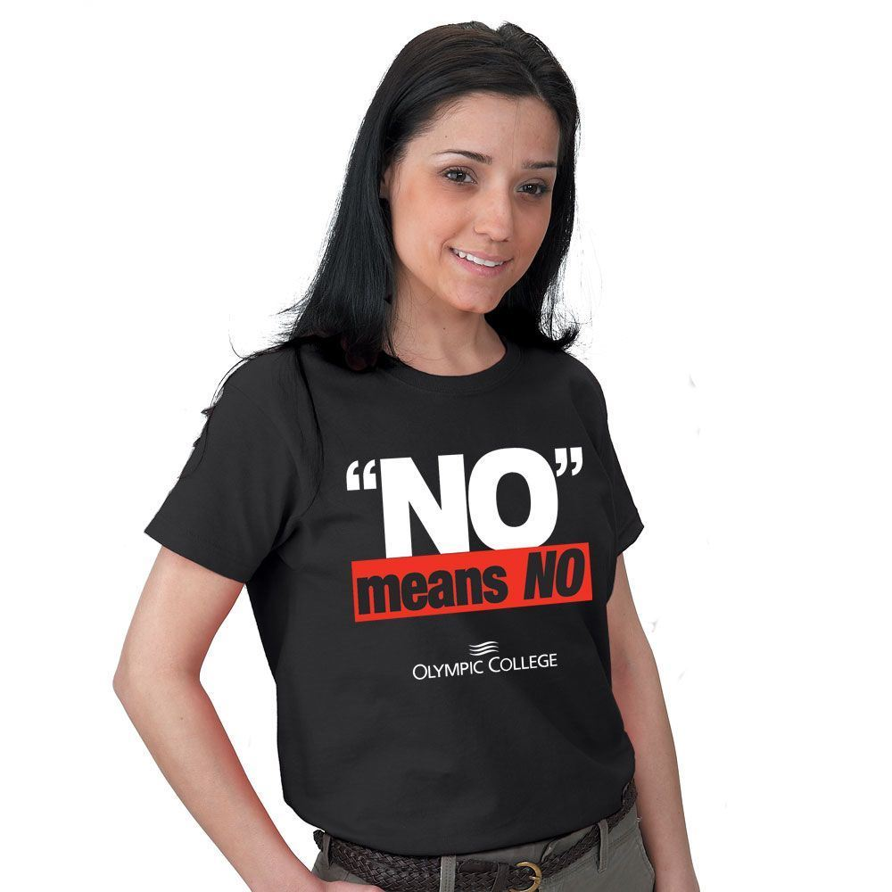 No Means No Short Sleeve T-Shirt - Personalized