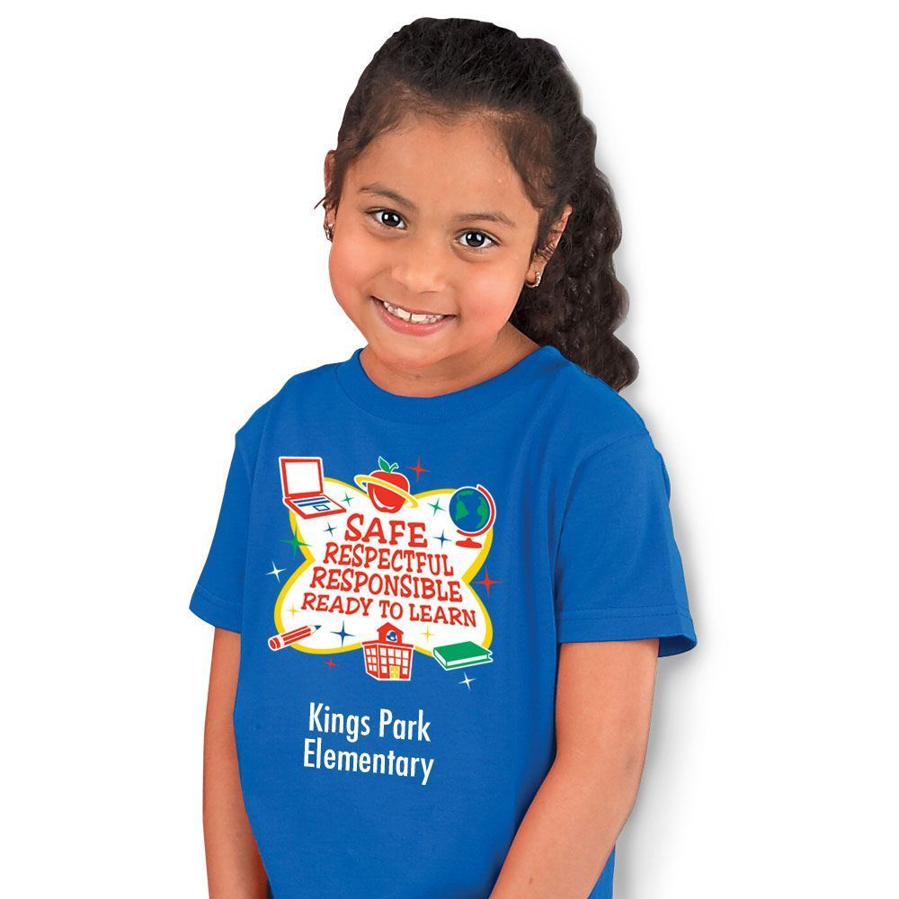 Safe, Respectful, Responsible, Ready To Learn Youth T-Shirt - Personalized