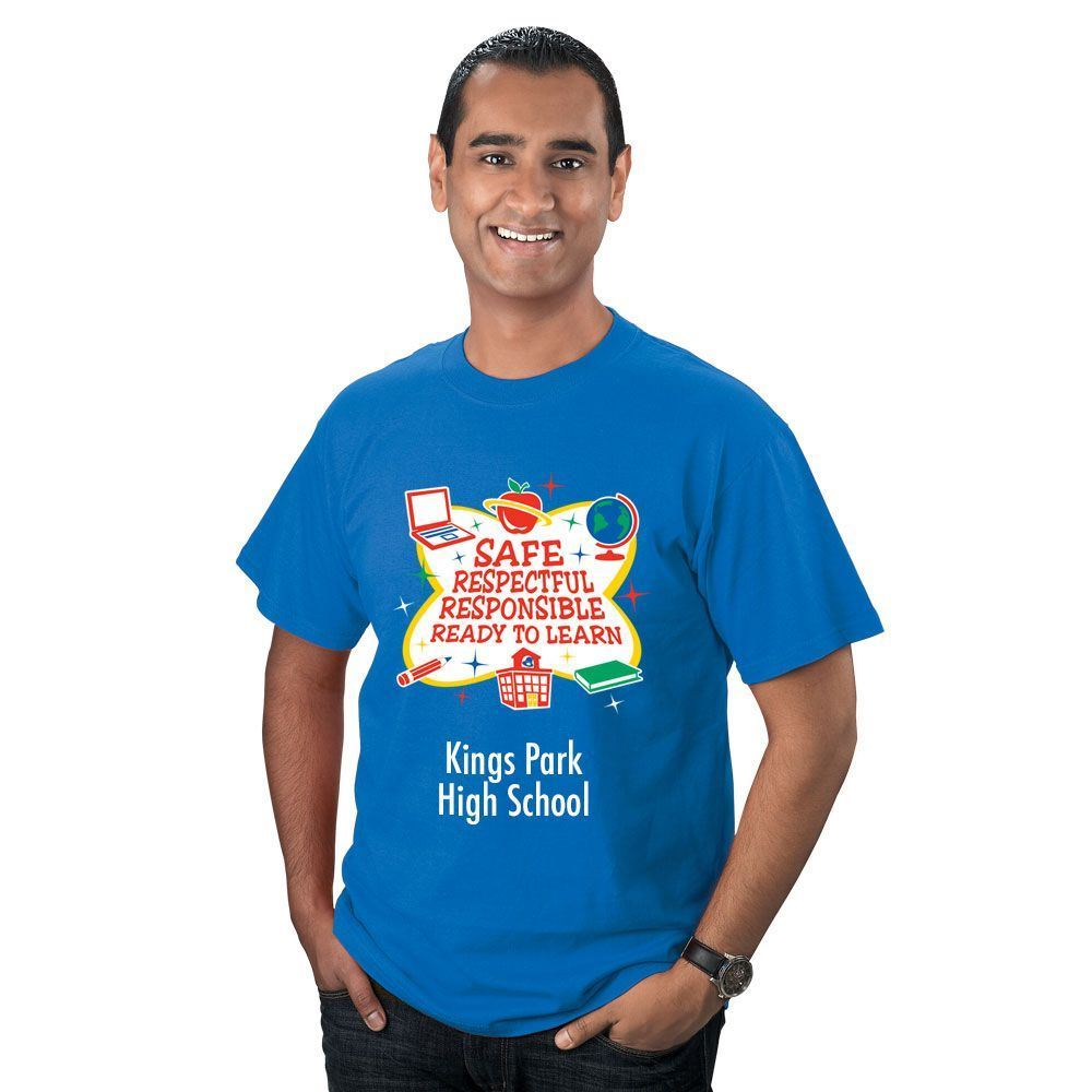 Safe, Respectful, Responsible, Ready To Learn Adult T-Shirt - Personalized