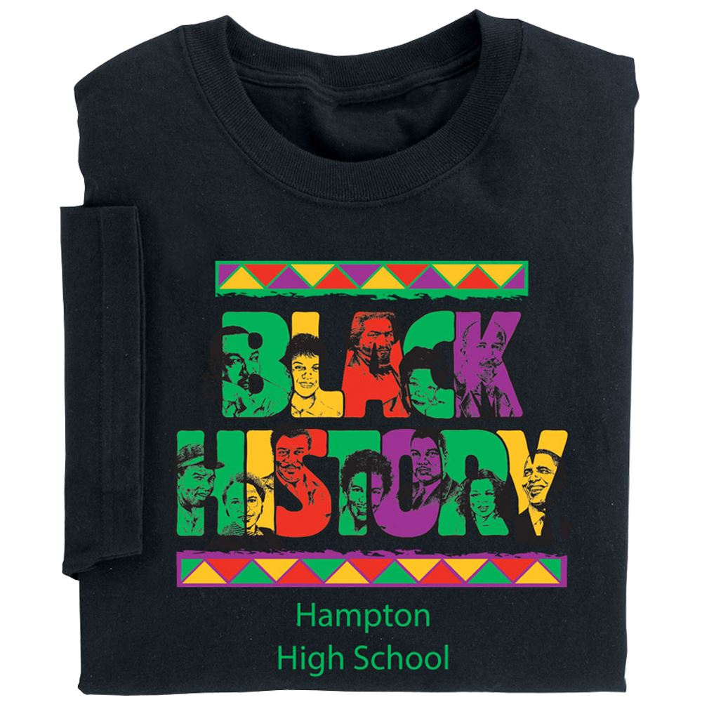 Black History Youth T-Shirt With Personalization