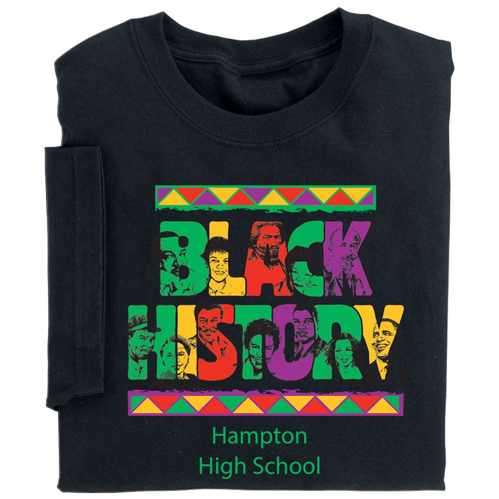 Black History Adult T-Shirt With Personalization