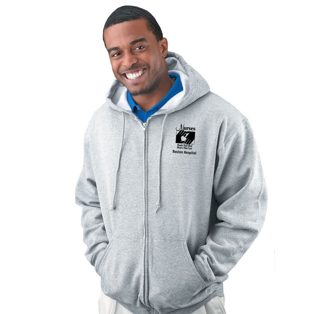 Pill Resistant Fleece Adult Hooded Full-Zip Sweatshirts By Jerzees® - Personalization Available
