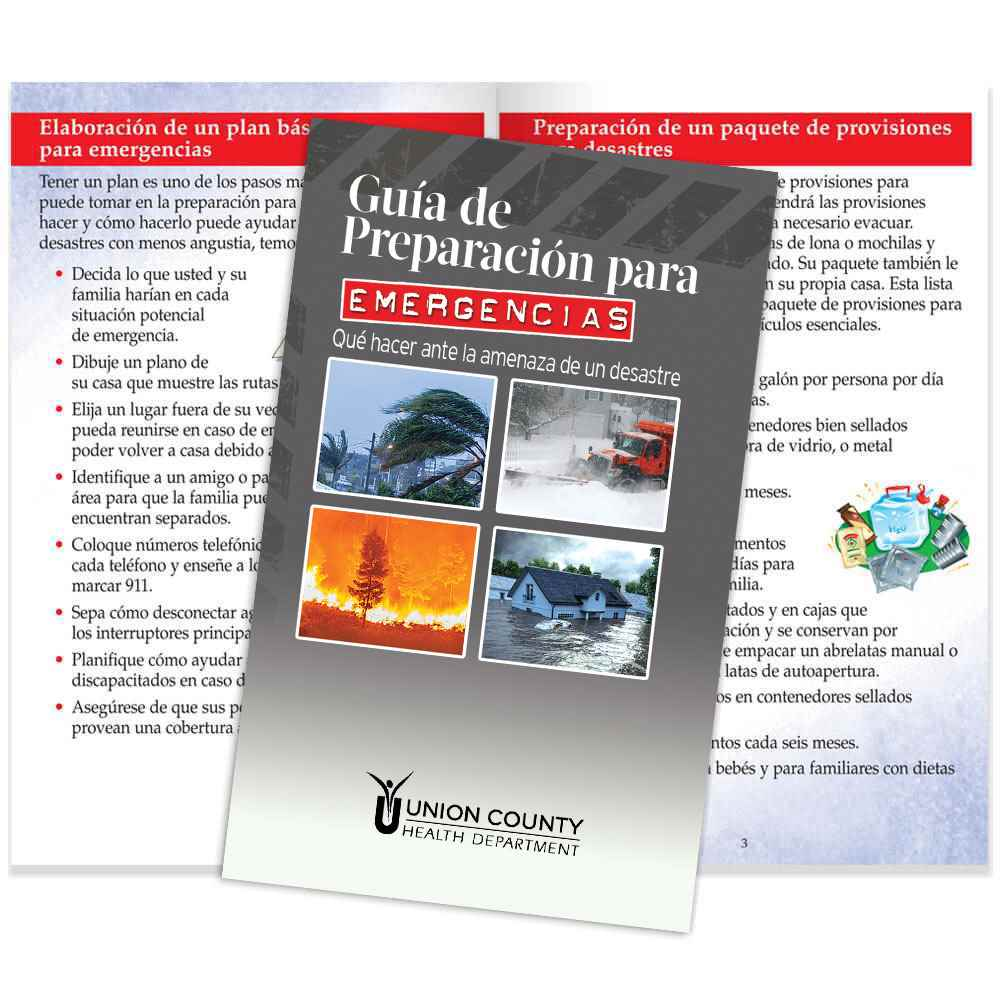 Spanish Emergency Preparedness Guide: What To Do When Disaster Threatens - Personalization Available