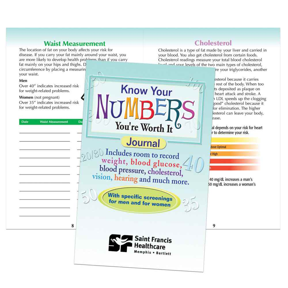 Know Your Numbers Health Journal - Personalization Available