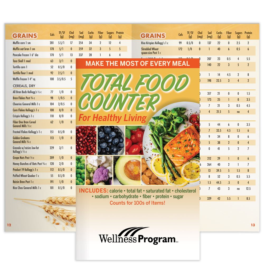 Total Food Counter For Healthy Living Guide - Personalization Available