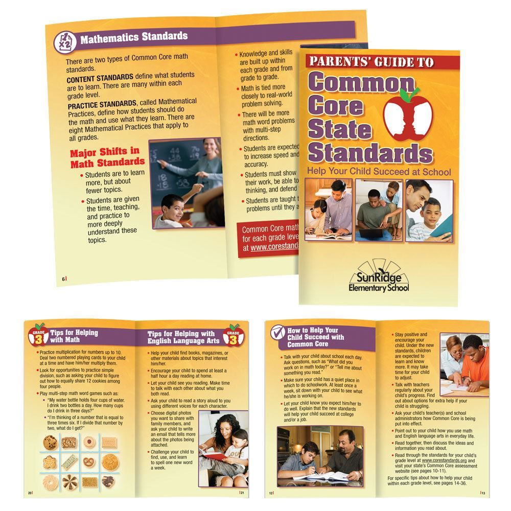 Parents' Guide To Common Core State Standards Handbook - Personalization Available