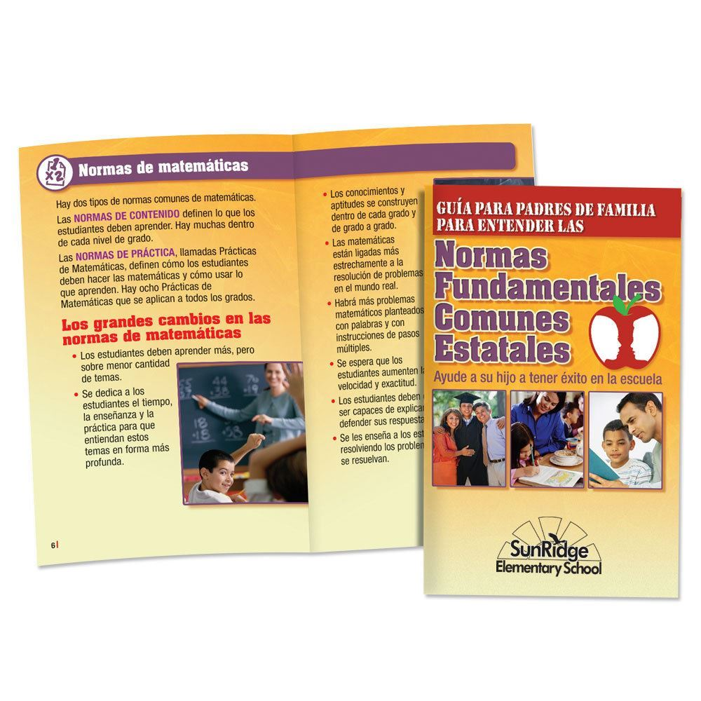 Parents' Guide To Common Core State Standards Spanish Handbook - Personalization Available