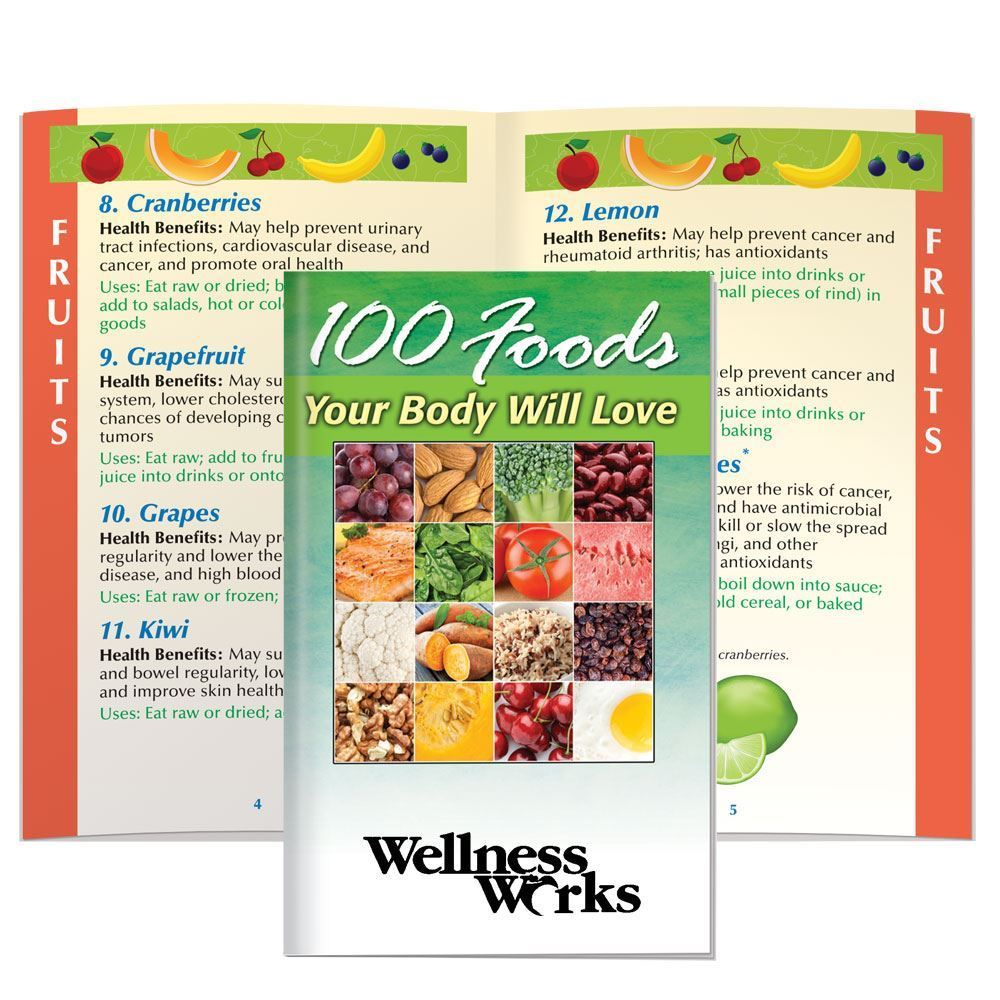 100 Foods Your Body Will Love Handbook - Personalization Available