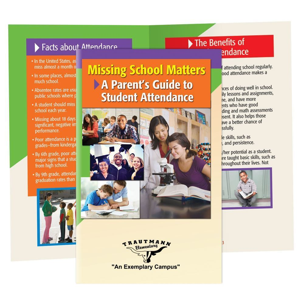 Missing School Matters: A Parent's Guide To Student Attendance Bilingual Handbook - Personalization Available