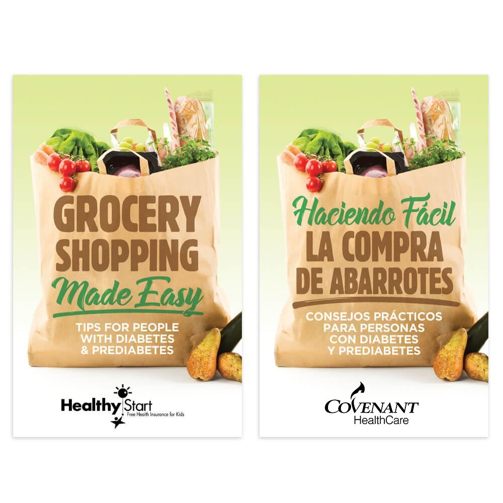 Grocery Shopping Made Easy: Tips For People With Diabetes English/Spanish Handbook - Personalization Available