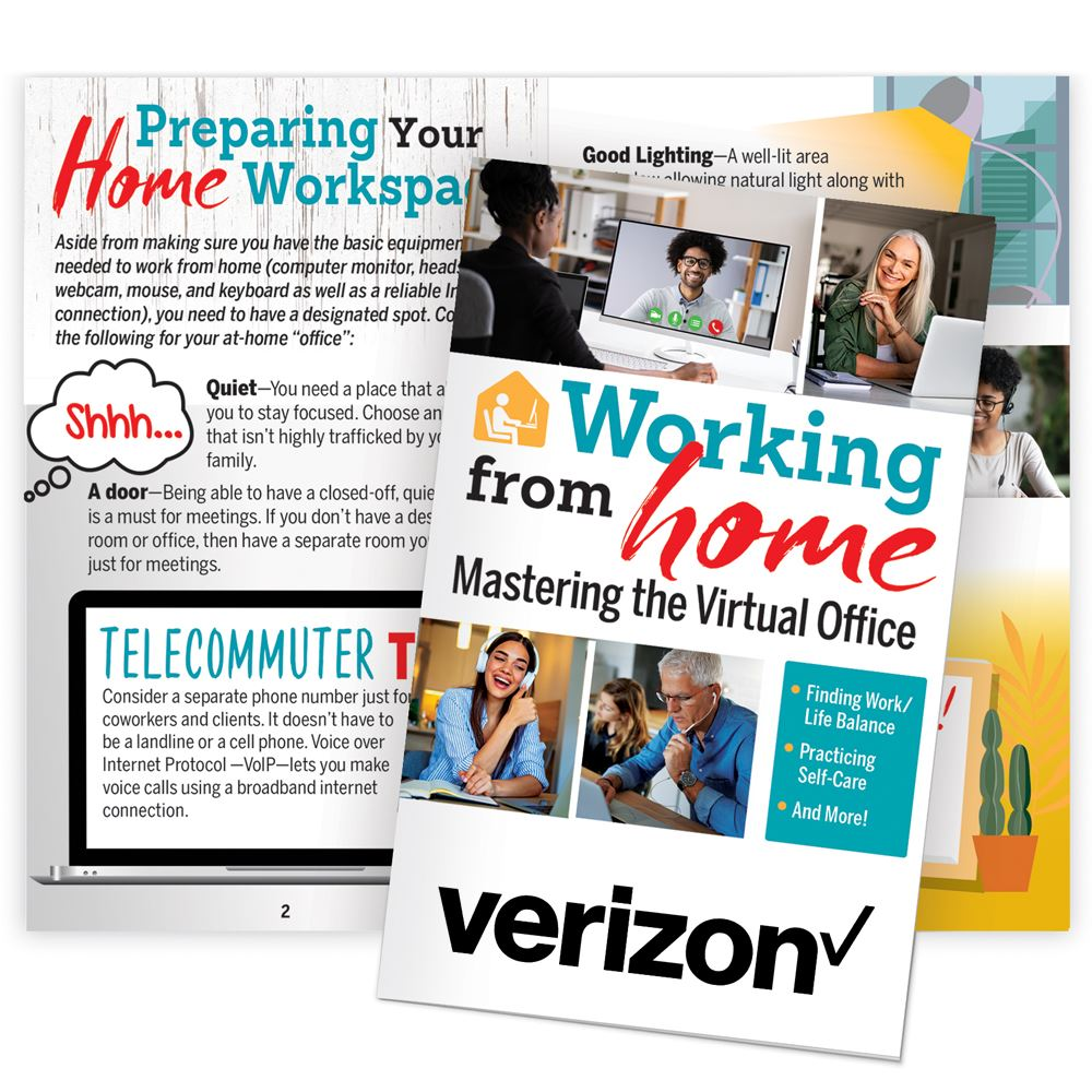 Working From Home: Mastering The Virtual Office Handbook Planner with optional personalization