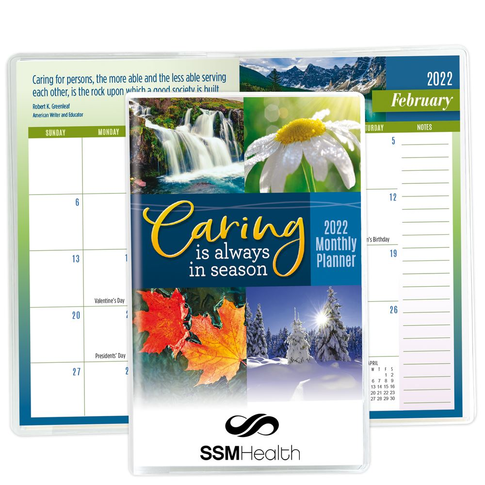 Caring Is Always In Season 2022 Deluxe Monthly Planner - Personalization Available