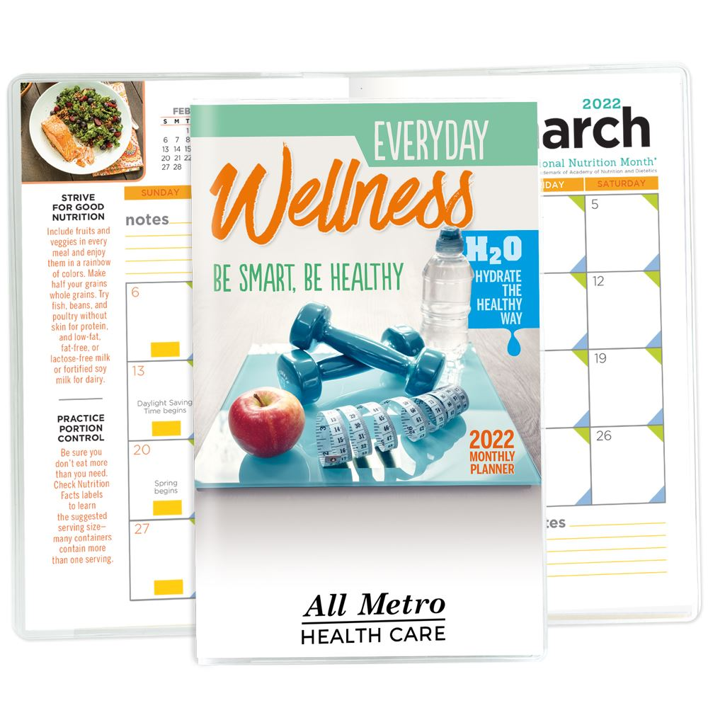 Everyday Wellness 2022 Deluxe Monthly Planner - Personalization Available