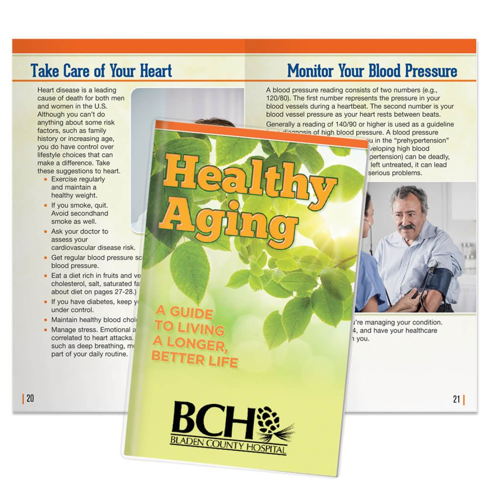Healthy Aging: A Guide To Living A Longer, Better Life Handbook With Sleeve - Personalization Available