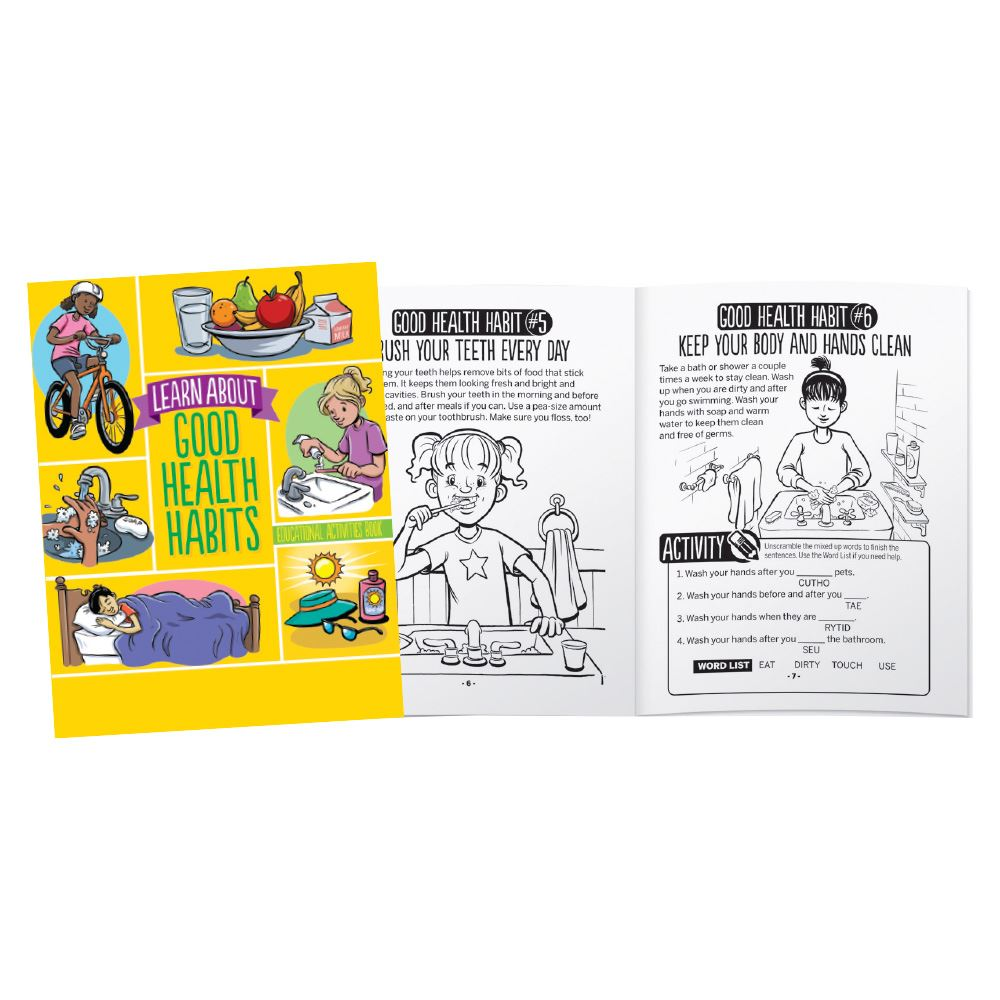 Learn About Good Health Habits Educational Activities Book - Personalization Available