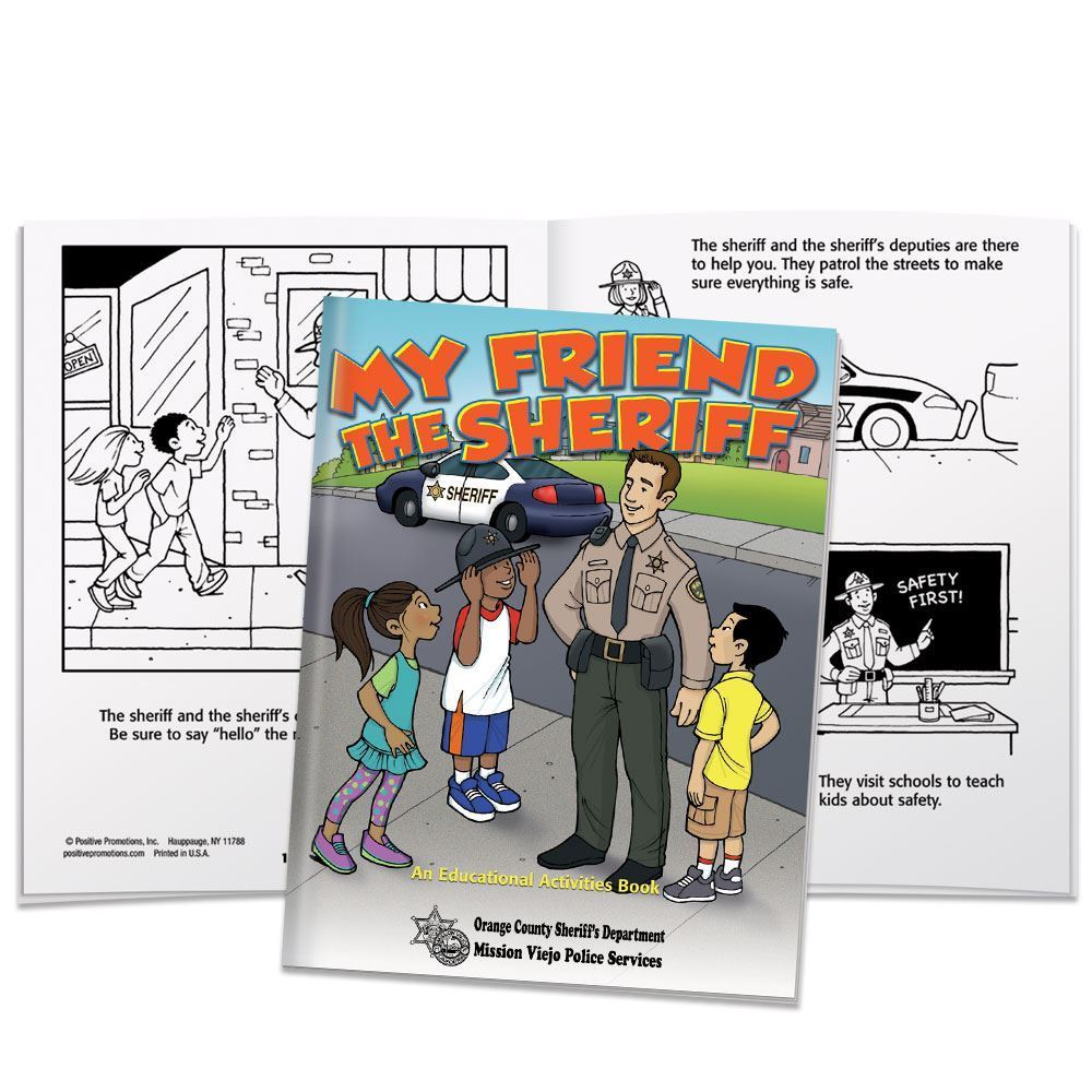 My Friend The Sheriff Educational Activities Book - Personalization Available