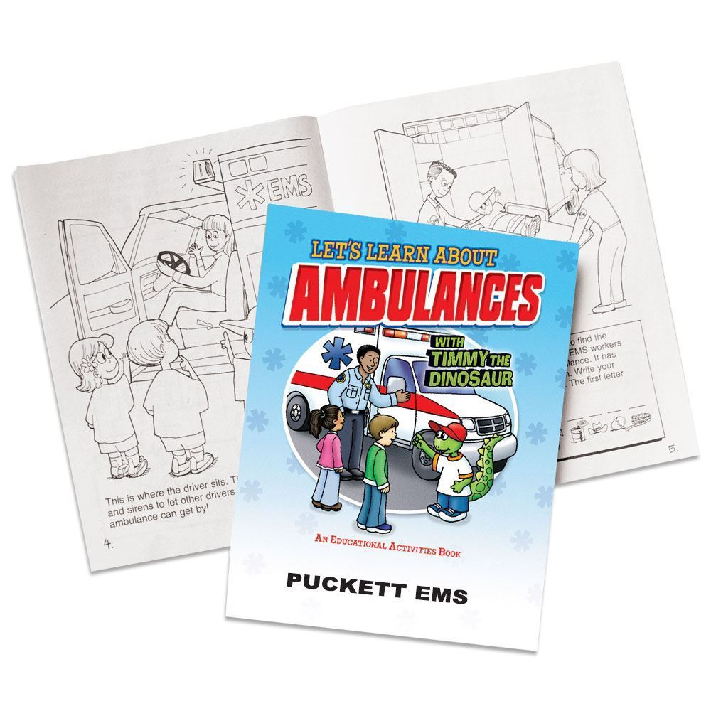 Let's Learn About Ambulances Educational Activities Book - Personalization Available