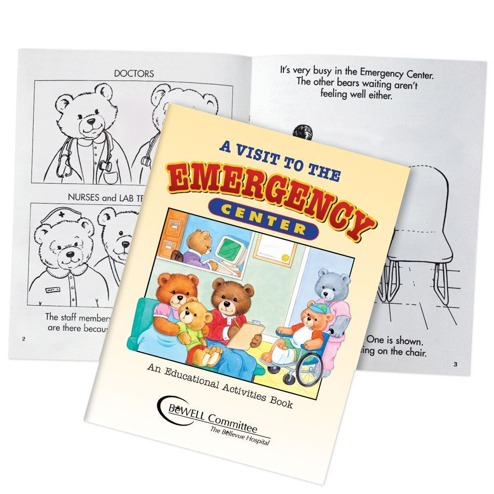 A Visit To The Emergency Center Educational Activities Book Teddy Bear Edition - Personalization Available